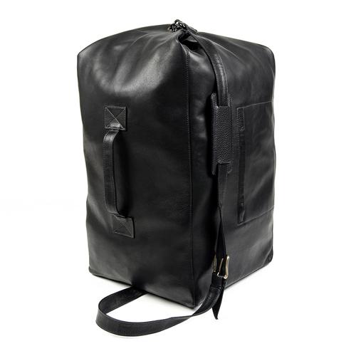 MILITARY DUFFLE BAG IN BLACK — DEUX CUIRS a326a38edd8
