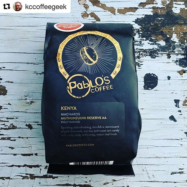 #Repost @kccoffeegeek (@get_repost) ・・・ Today on KCcoffeegeek.com I have this month's @mycoffeepub selection from @pabloscoffee. Link to the review is in my profile. I found hints of tomato, pink grapefruit, lots of balance and an unmistakeable sun tea/iced tea note in this coffee that took me back to when I was 5 and my mom made sun tea all summer long! #coffee #mycoffeepub #coffeereview #pabloscoffee #denver #denvercoffee #kccoffeegeek