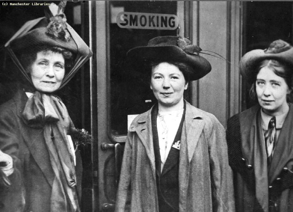 Emmeline, Christabel and Sylvia Pankhurst, 1910.  Photo courtesy of Manchester Archive and Local Studies
