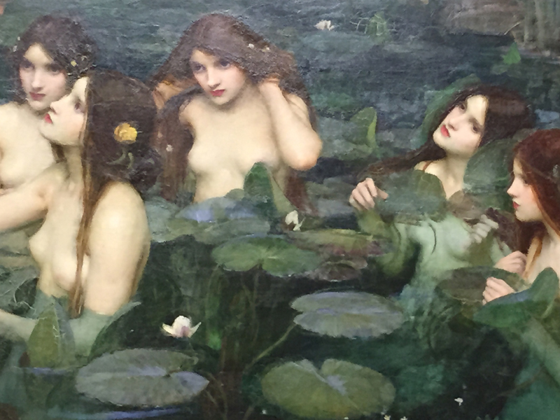 Feeling inspired by John William Waterhouse's interpretation of the water nymph myth in his painting at the Manchester Art Gallery