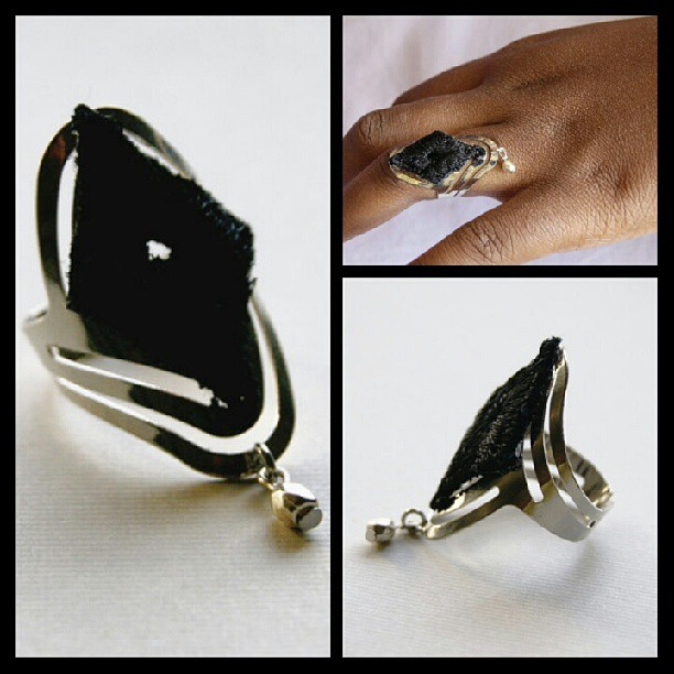 Black & Metal Lace Ring by NyaMani Designs…..#bestoftheday #fashion #instamood #instabeauty #instagreat #inspiration #instafashion #instamessage #instastyle #instagood #black #lace #ring #jewelry #igdaily #igers #iphoneisia #styleaddicted #style #cool #rawartists #colors #diamond #me #love #life #art #beauty  (at  www.nyamanid.etsy.com )