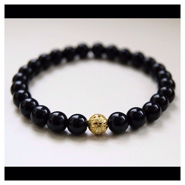Onyx & Plated Gold. Simple Elegance……