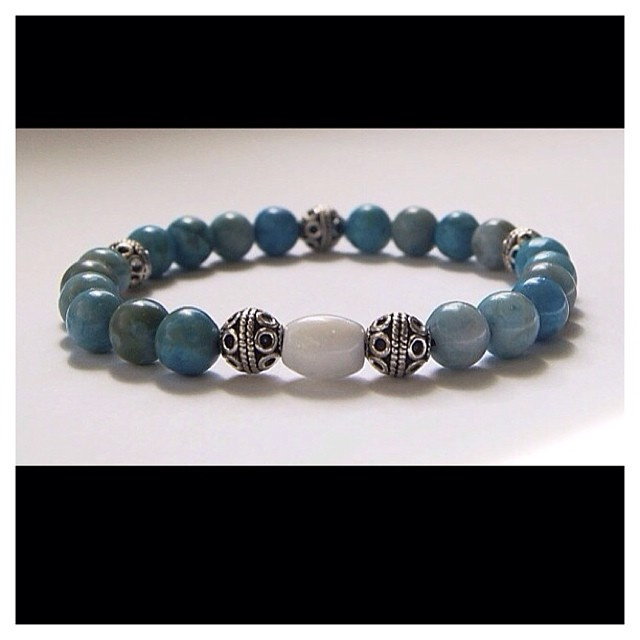 Turquoise and Bali Men's Beaded Bracelet……available at  www.nyamanid.etsy.com  #fashion #swag #style #stylish #me #swagger #photooftheday #instagood #handsome #cool #wristcandy #mensfashion #gentlemen #accessories #blue #igdaily #mensjewelry #guy #man #model #botl #cigarsnob  (at  www.nyamanid.etsy.com )