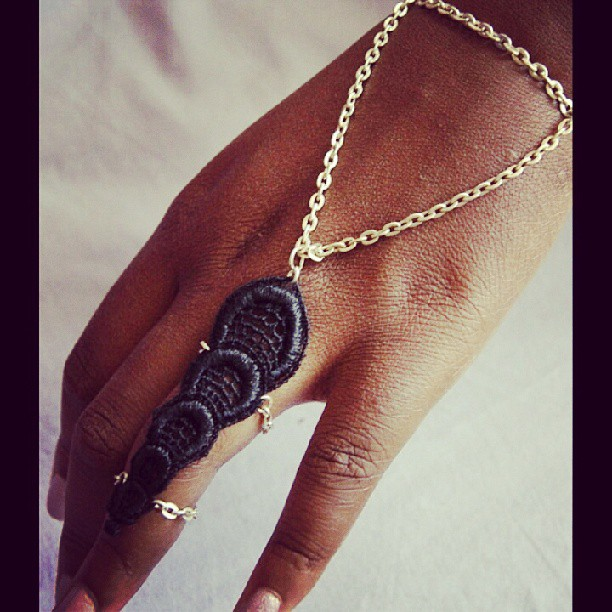 Black Lace full finger ring and bracelet handpiece……New from NyaMani Designs  www.nyamanid.etsy.com  #nyamanidesigns #bestoftheday #fashion #indiedesigner #music #she #igers #igdaily #style #styleaddicted #accessories #iphoneisia #instagreat #inspiration #picoftheday #love #life #cool #black #instamessage #instagood #rawartists #etsy #art #colors #instabeauty #instamood #woman #design #runway  (at  www.nyamanid.etsy.com )