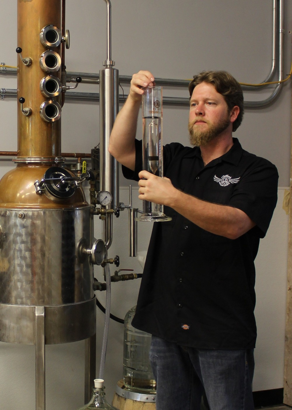 Ian Cutler's family history is full of hooch. His is the first licensed distillery in the Santa Barbara area since Prohibition. Photo courtesy Cutler's Artisan Distillery.