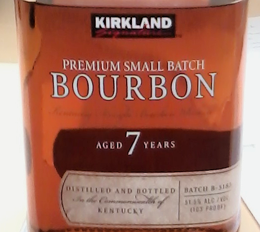 Costco secretly sources its 100-proof Kirkland small-batch bourbon, and our man in Chicago says it's worth the $20 a liter they get for it. (Photo by Allen Helm / Bourbon Story Magazine.)