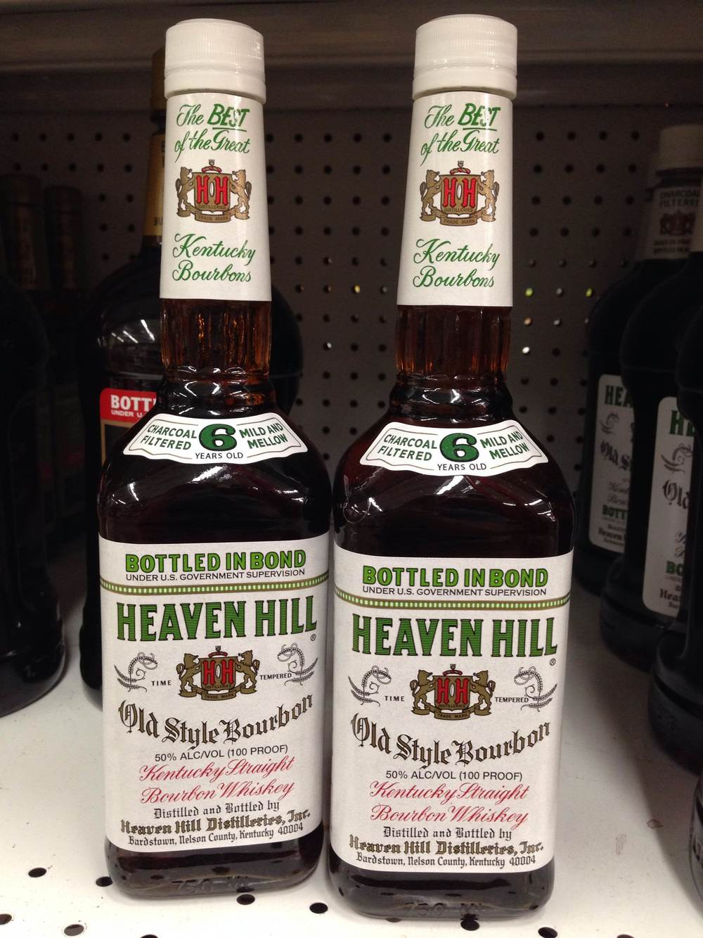 Heaven Hill Bonded-in-Bottle