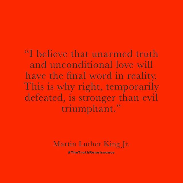 #TheTruthRenaissance #MLK