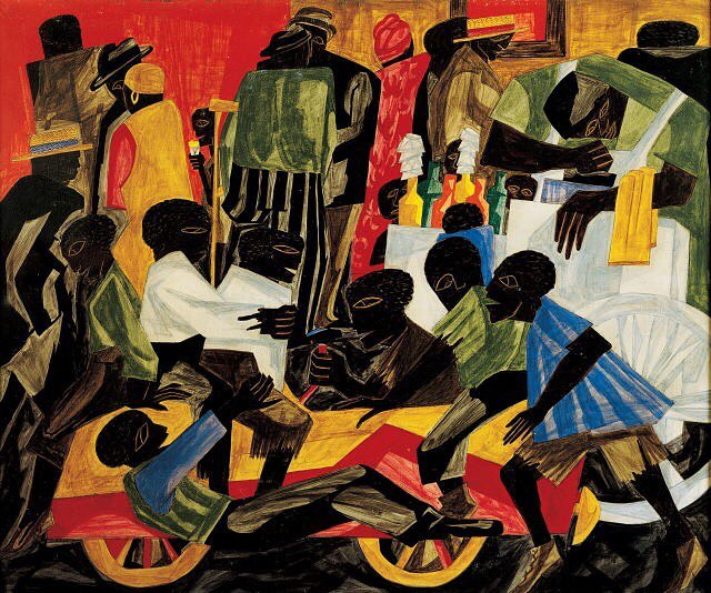 Jacob Lawrence, Summer Street Scene in Harlem (1948) #IfItsMagic #TheTruthRenaissance