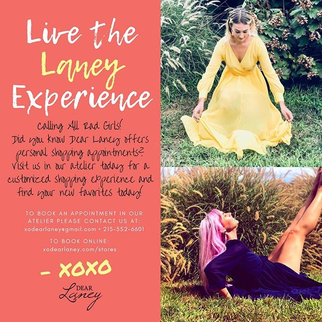 💛Attention!!! Attention!!!! 💛 Hey Rad Girls!!! Did you know you can book a shopping appointment in our Atelier? Visit our site today for more deets!! Appointments available this weekend! xo . . #dearlaneygang #hobbiesbecomecareers #phillyboutique #rad #phillybrand #phillydesigner #phillyfashion #boho #radgirlsonly #indie #shopping #smallbusiness #womanceo #tuesdaymorning