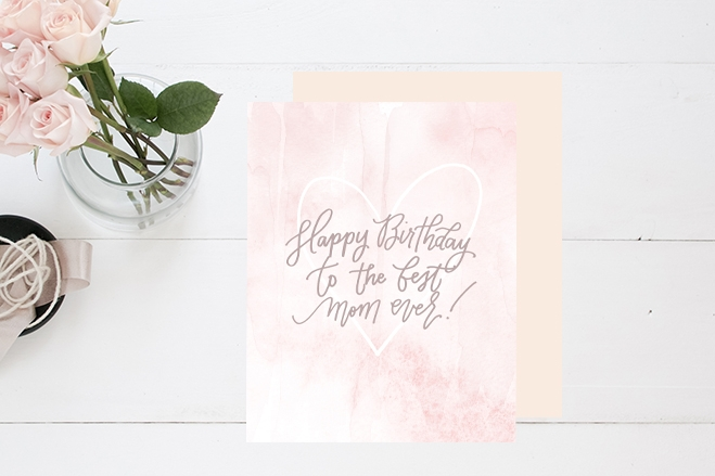 BEST MOM BIRTHDAY CARD Prairie Letter Shop