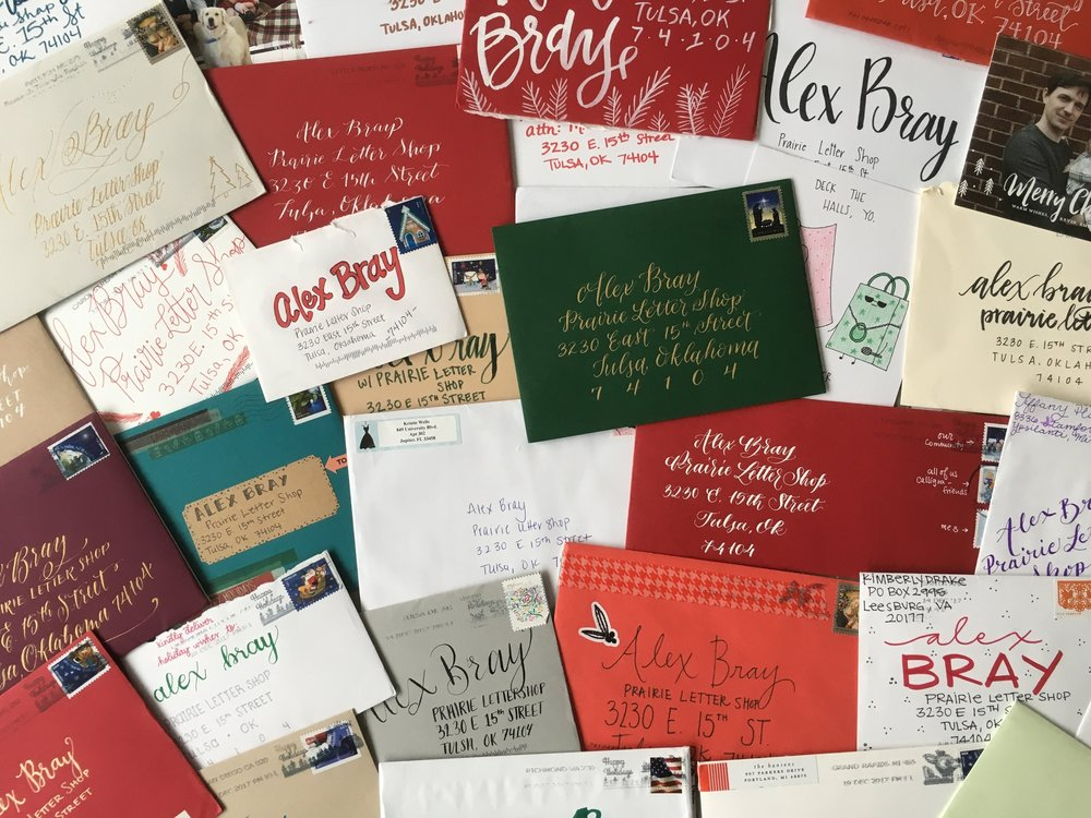 RECAP OF MY FIRST HOLIDAY CARD SWAP — Prairie Letter Shop