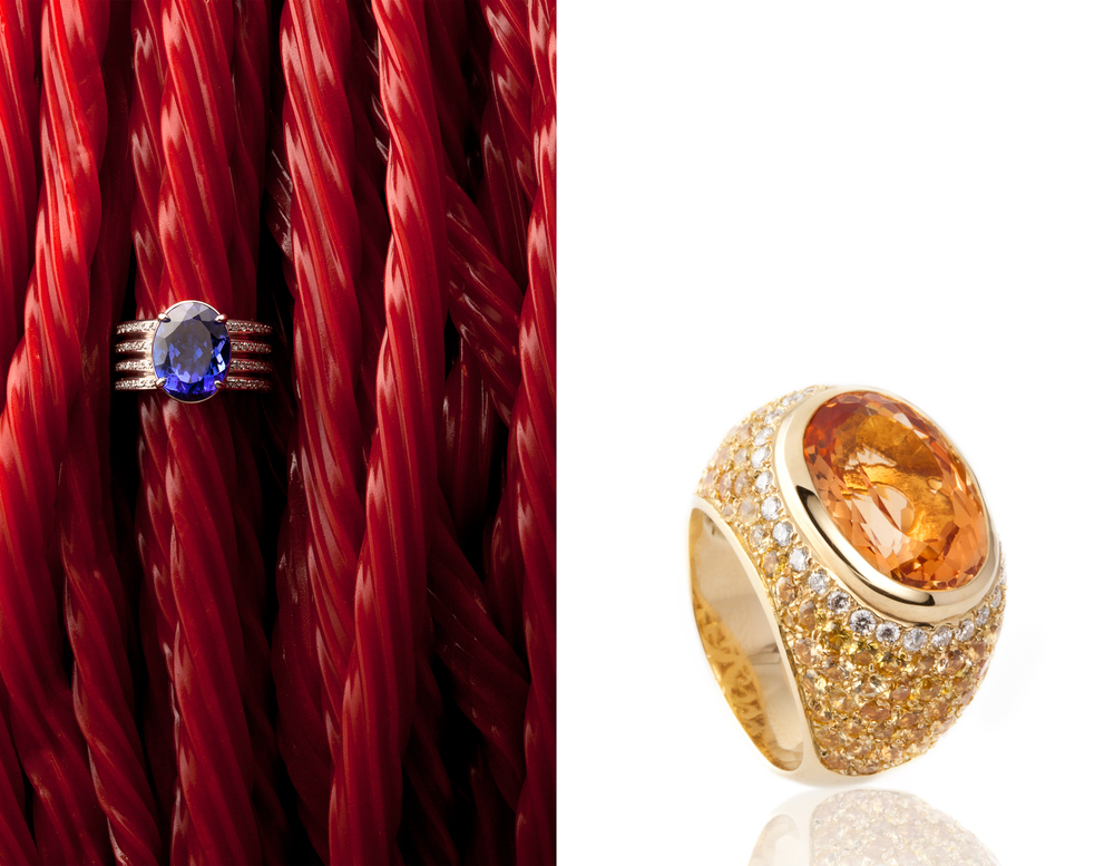 Yellow Gold Ring with Imperial Topaz