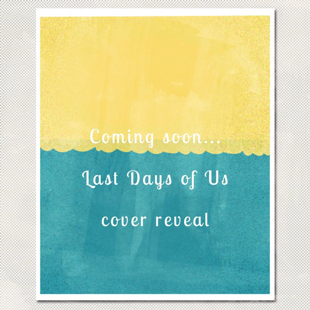 Not long to go now for the cover reveal for LAST DAYS OF US (my road trip  book). It's out officially out from HQ Young Adult in Jan 2018 but that  means ...