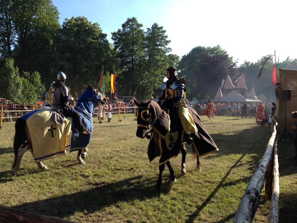 Jousting about to take place at Burgfest