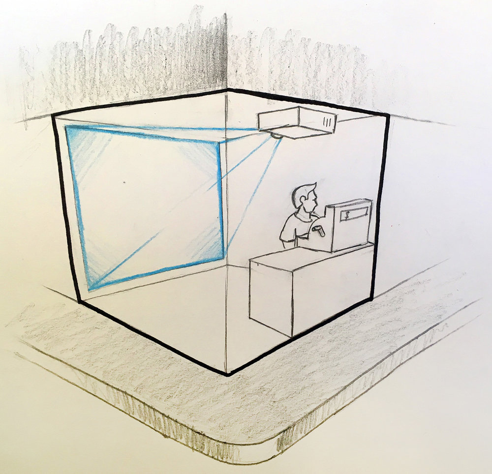 1. Digitally augmenting the space.