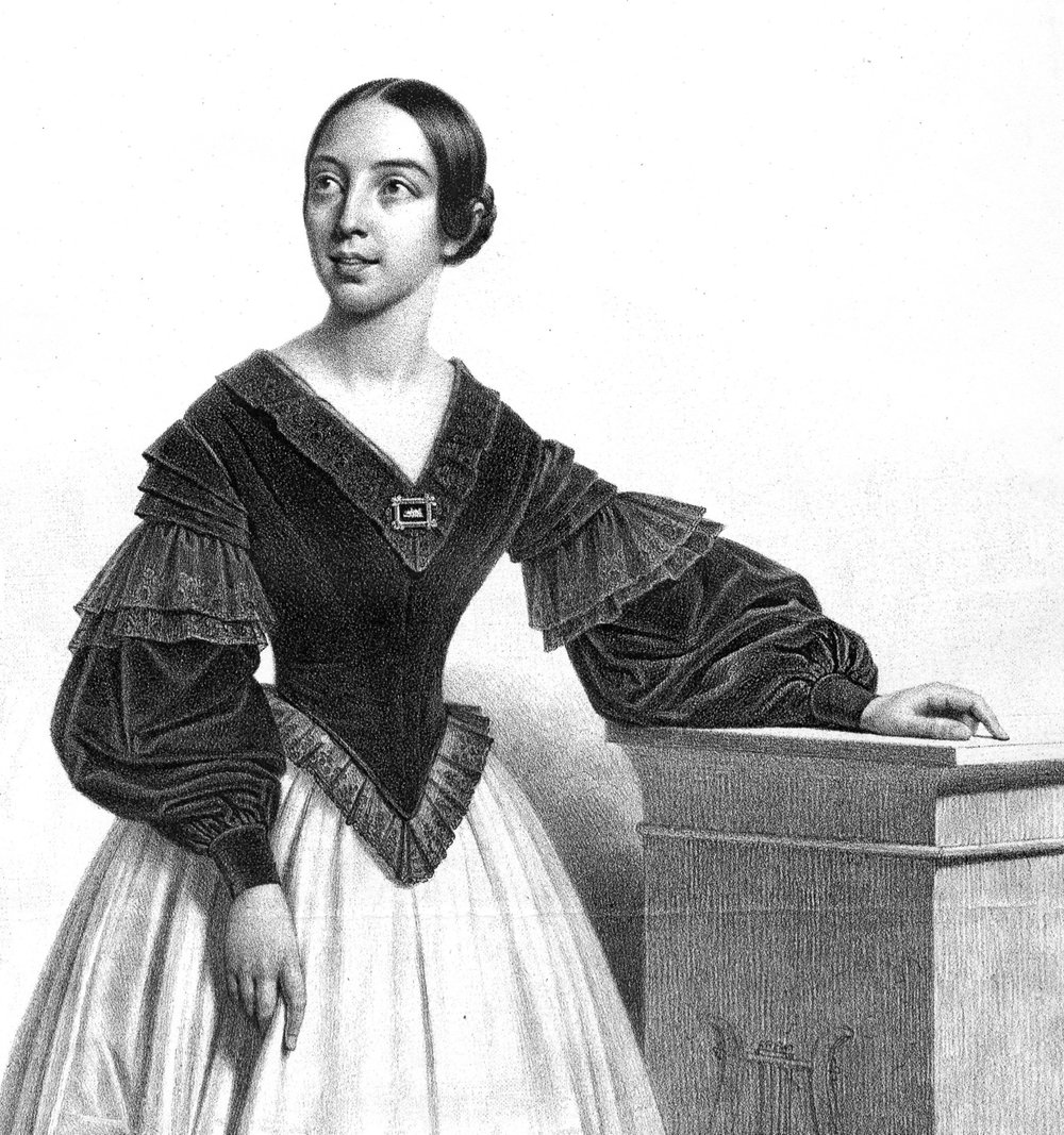Pauline Viardot-Garcia (1821-1910) circa 1840, courtesy of the Yale University Library