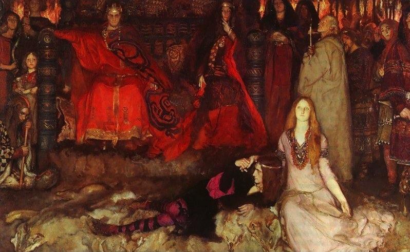 'Hamlet' by Edwin Austin Abbey