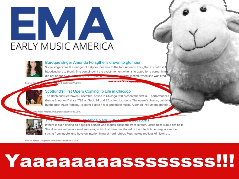 Click to view Pepe the Sheep's appearance on Early Music America:  https://www.earlymusicamerica.org/