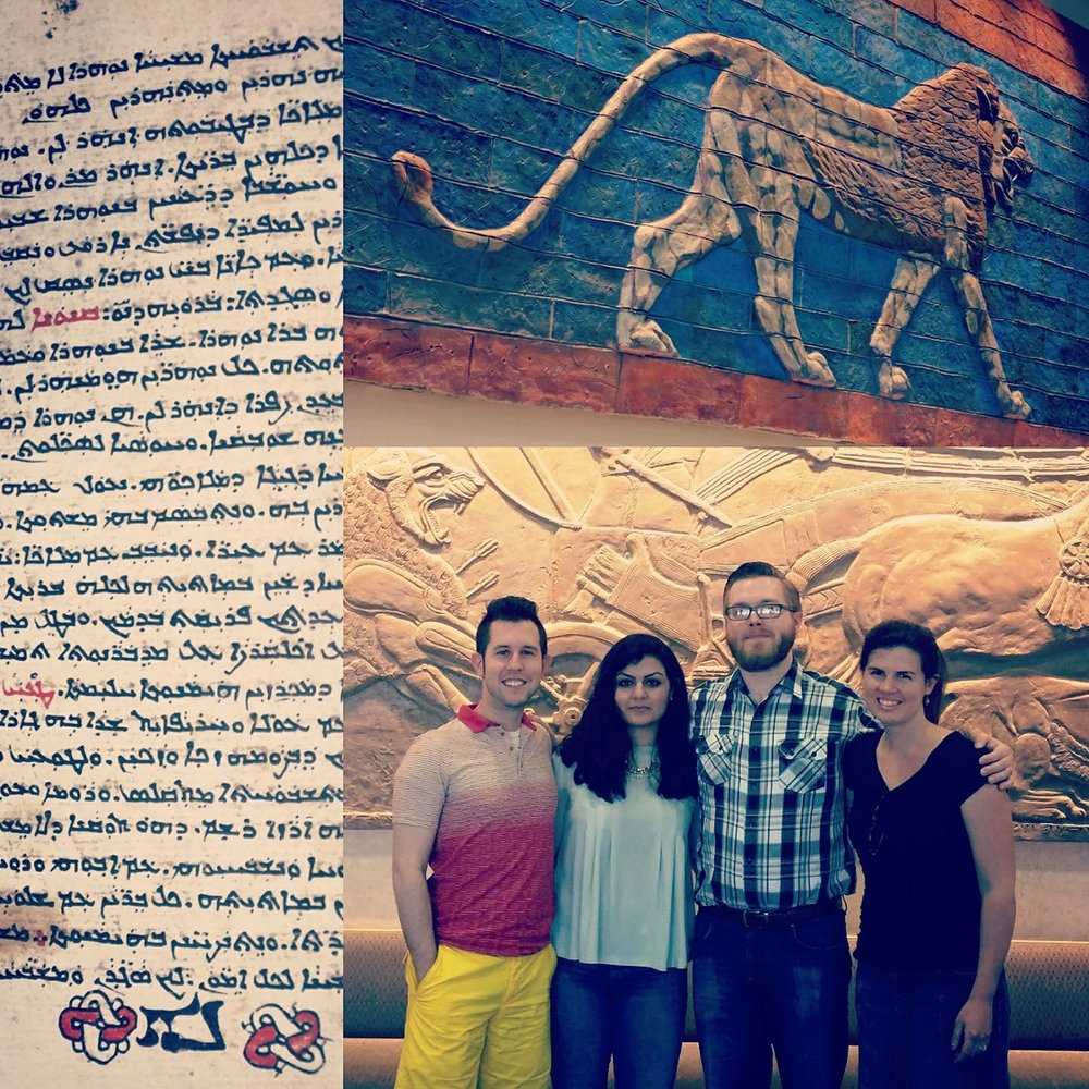 Eric Malmquist and musicians meet with members of the Assyrian Universal Alliance Foundation (AUAF).