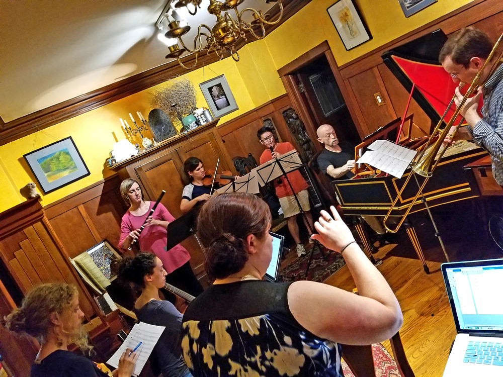Heidi works with BBE players on her new piece, Yes. After meeting with minority women leading nonprofits in Chicago, Heidi wrote the piece to convey common themes of leadership and experiences.