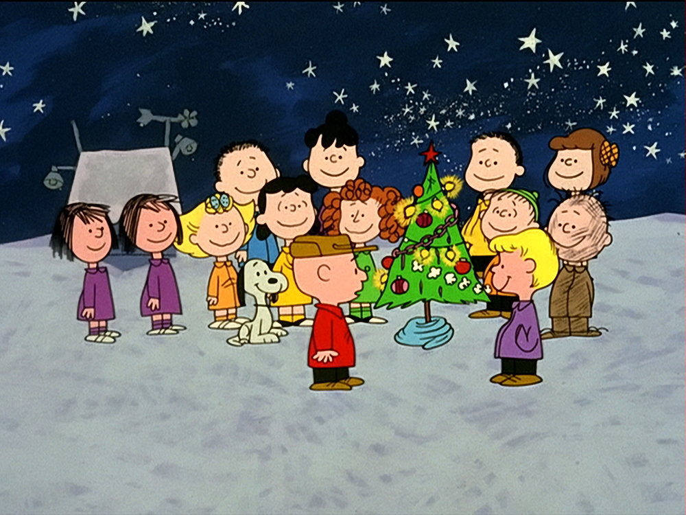 This hymn became even more popular when it made a famous appearance on television in 1965, serving as the culmination of  A Charlie Brown Christmas.