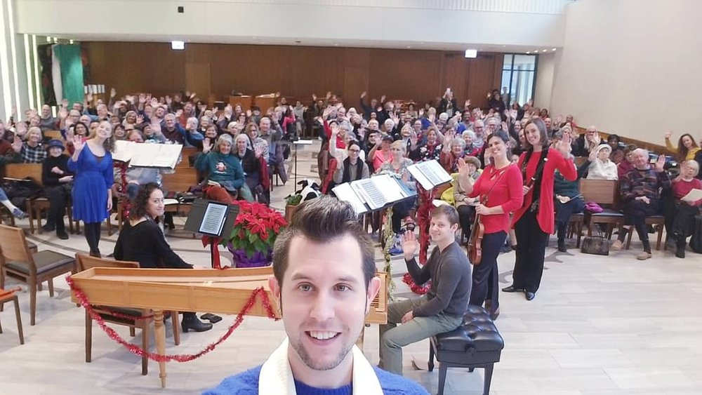 Thanks to the #bbefamily at Fourth Presbyterian Church for singing with us on Friday, December 15! Don't miss our next two shows on Sunday, December 17 an Monday, December 18.