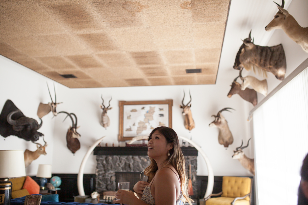 An absolutely breath-taking great room showcasing all of the family's hunts.