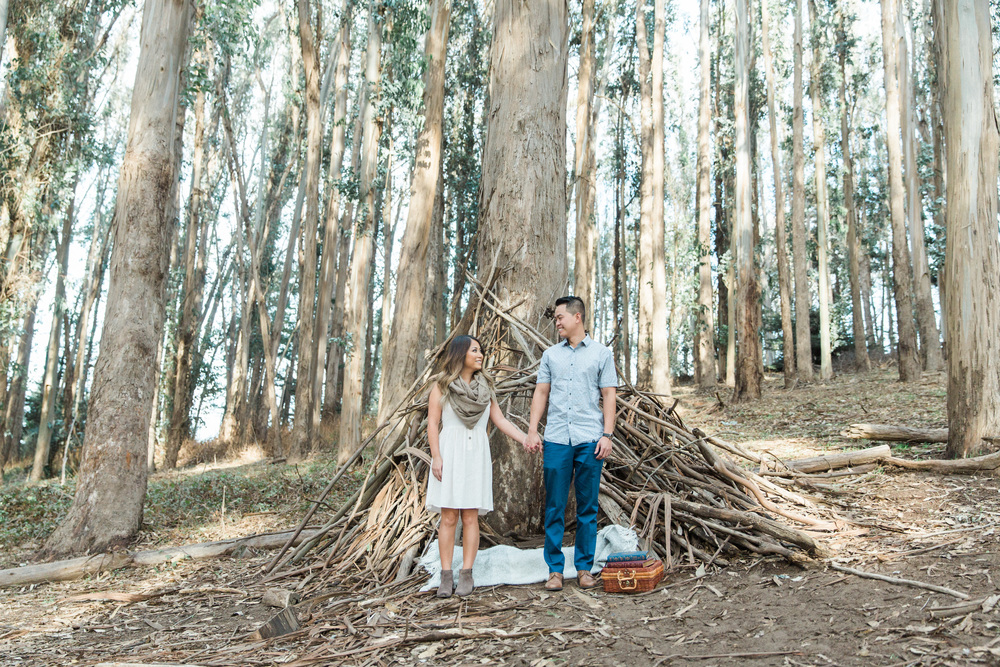 Lovers Lane Engagement Session San Francisco  Film Photographer