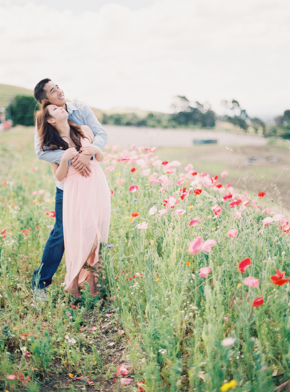 Spring Floral Engagement SF Fine Art Photographer