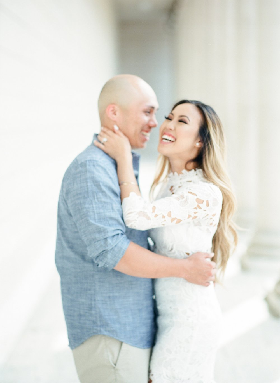 Legion of Honor Engagement Film Photographer