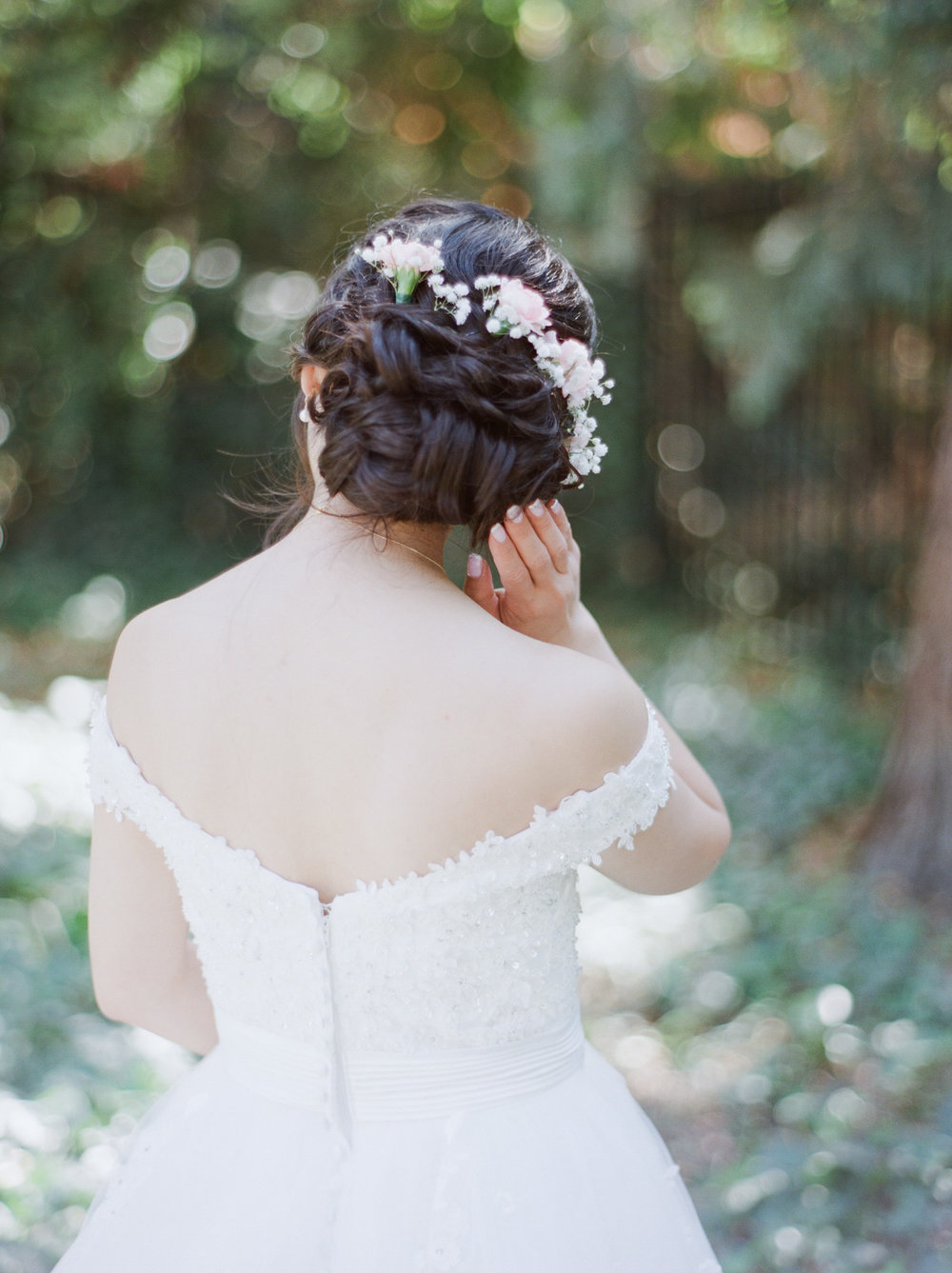 The Homestead Wedding Crockett, California Fine Art Wedding Photographer - bridal hair