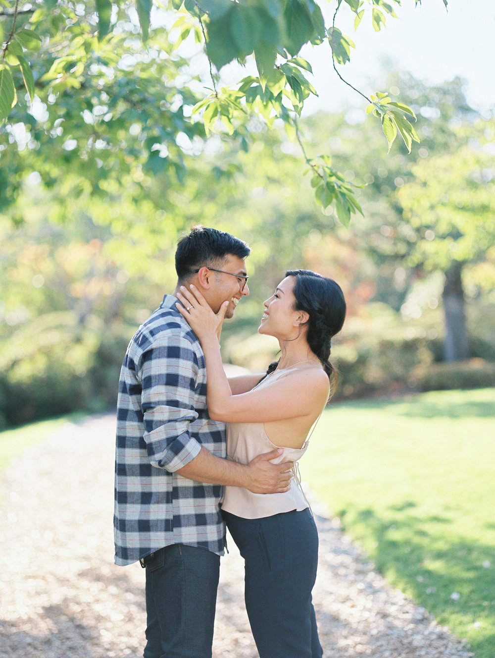 Portland Nike Campus Engagement Session Film Photographer Jenny Soi