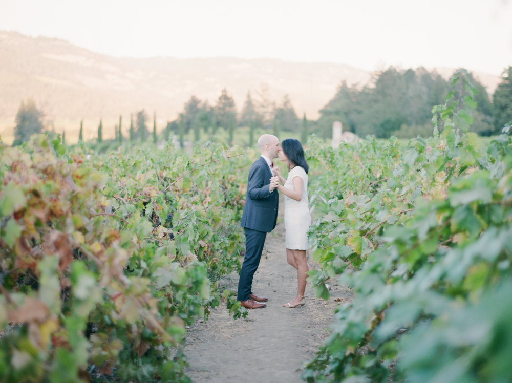 Napa Vally Engagement Fine Art Film Photographer