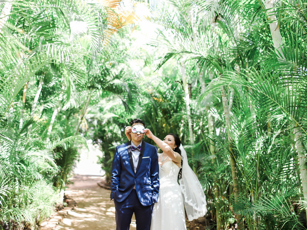 Paradise Cove Oahu Hawaii Fine Art Film Destination Wedding Photographer