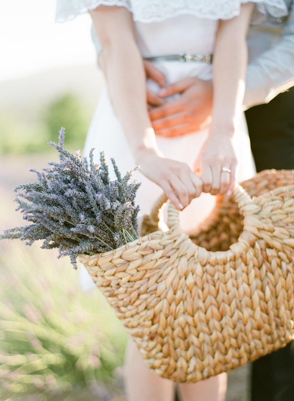 lavender field Sonoma wedding Film photographer