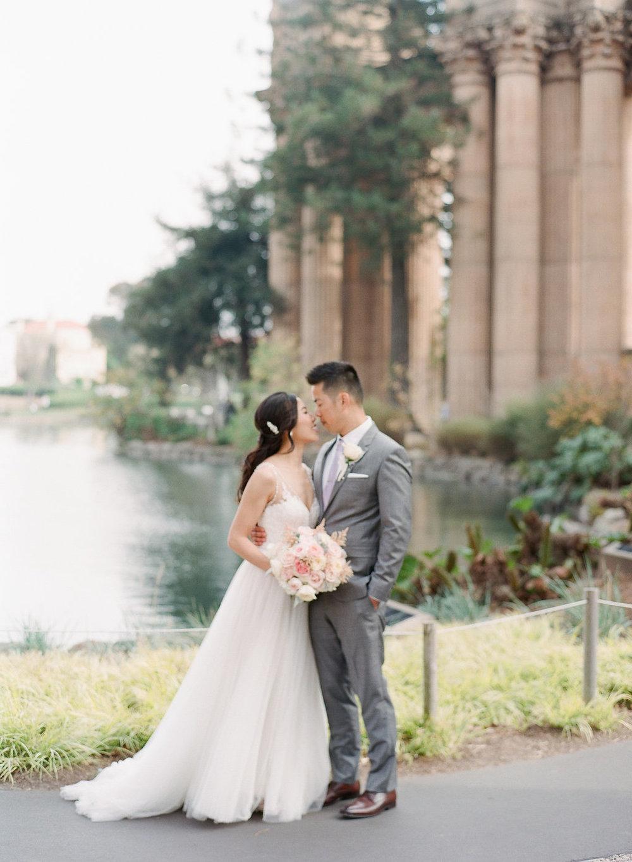 San Francisco City Hall Private Ceremony Wedding - Fine Art Film Photographer - Romantic film wedding