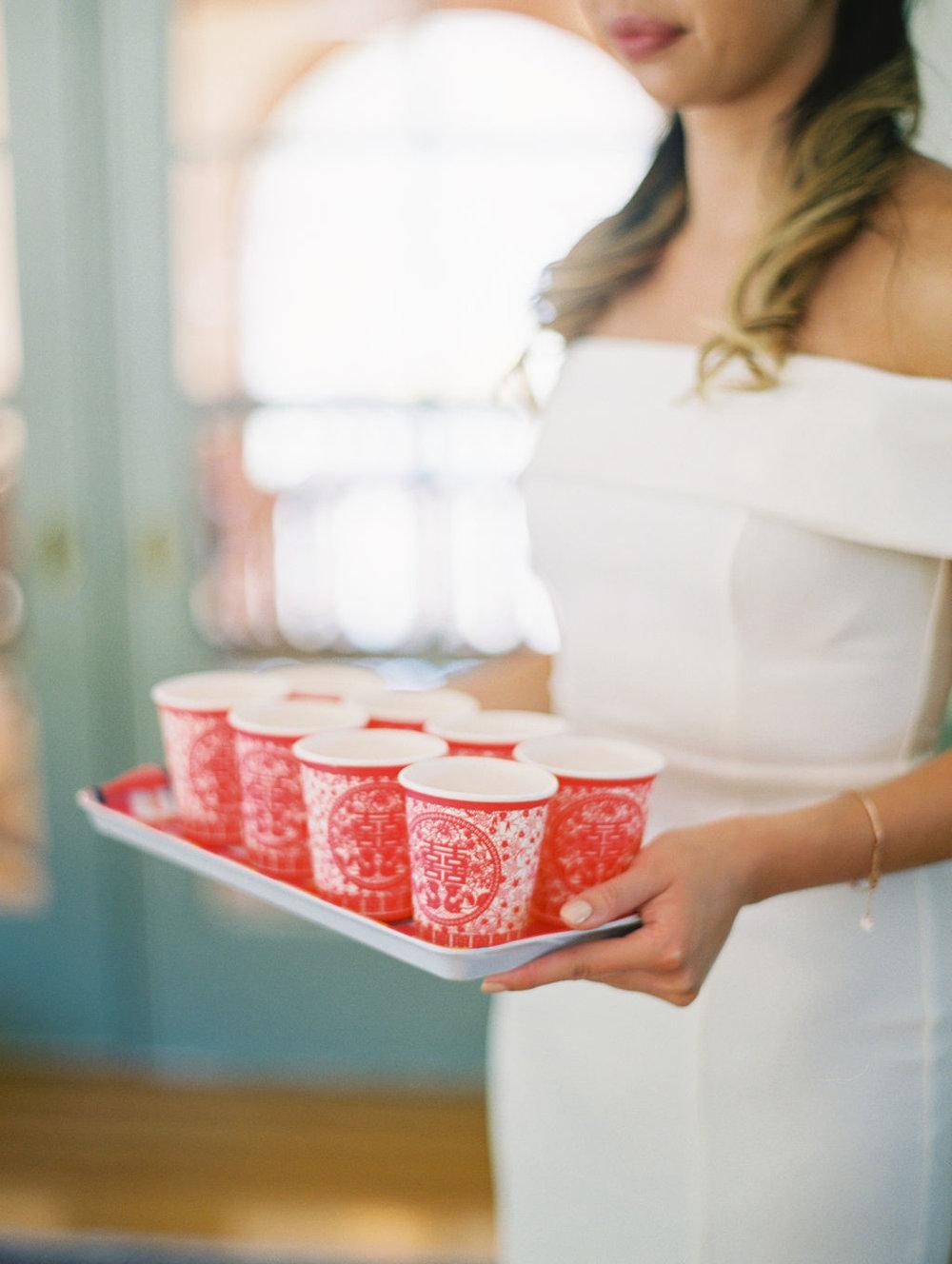 Film Destination Wedding California Fine Art Photographer Jenny Soi - All White Wedding at Villa Montalvo Saratoga, CA - Fine Art Tea Ceremony