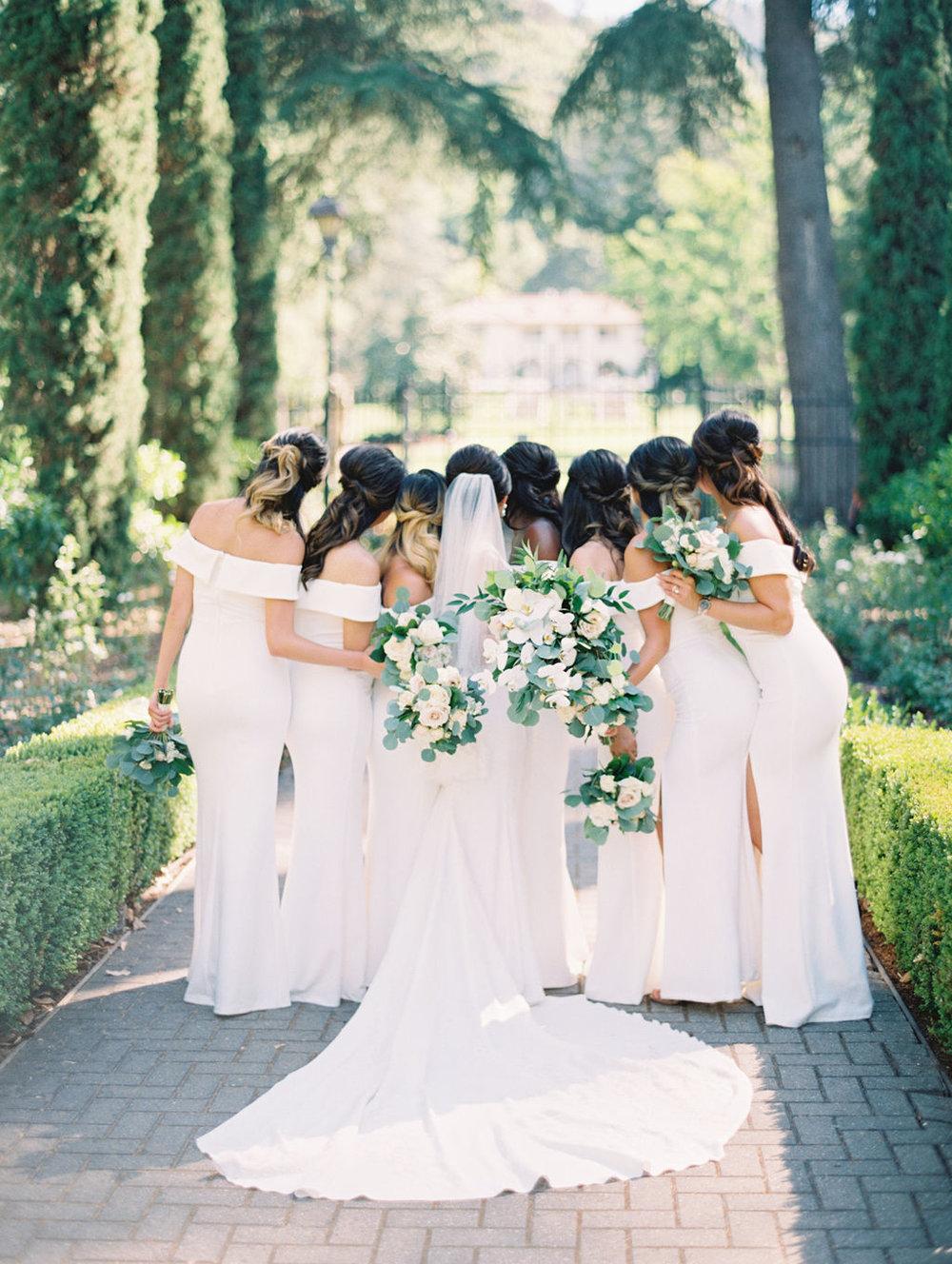 Film Destination Wedding California Fine Art Photographer Jenny Soi - All White Wedding at Villa Montalvo Saratoga, CA