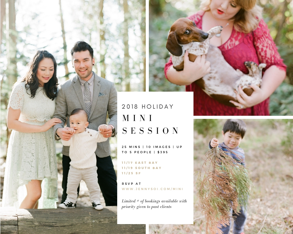 2018 Fall mini session with Jenny Soi Photography