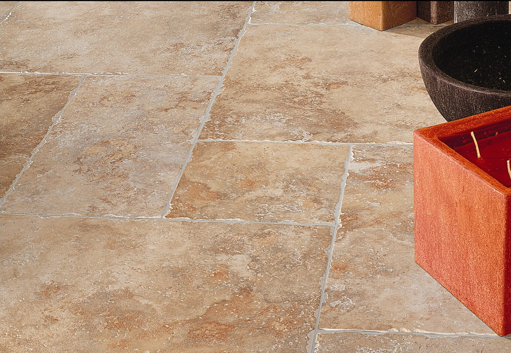 Porcelain stonelook travertine tile encounters ventura Ceramic stone tile