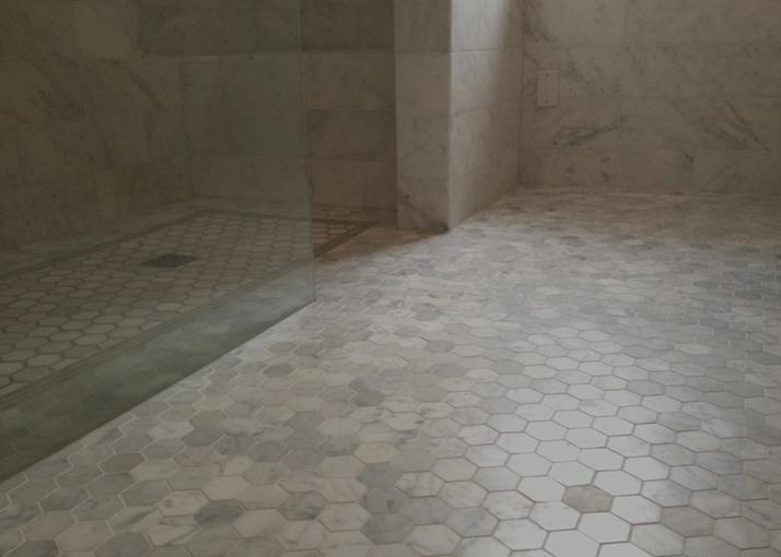 "White Carrara (Italian) 2"" Hexagon Mosaic"