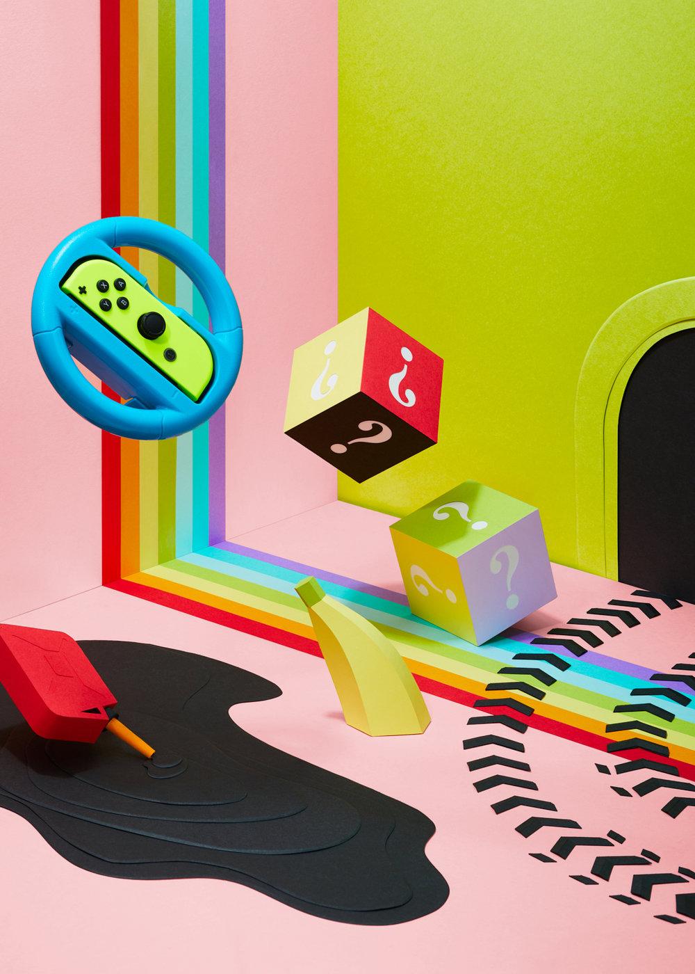 Mario Kart paper set