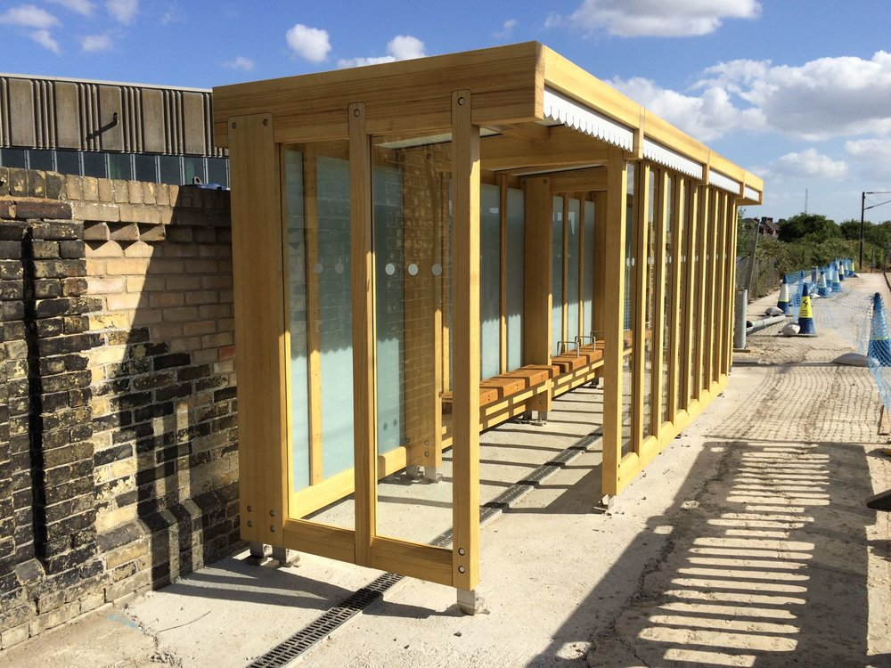 On Site Rail Shelter Installation