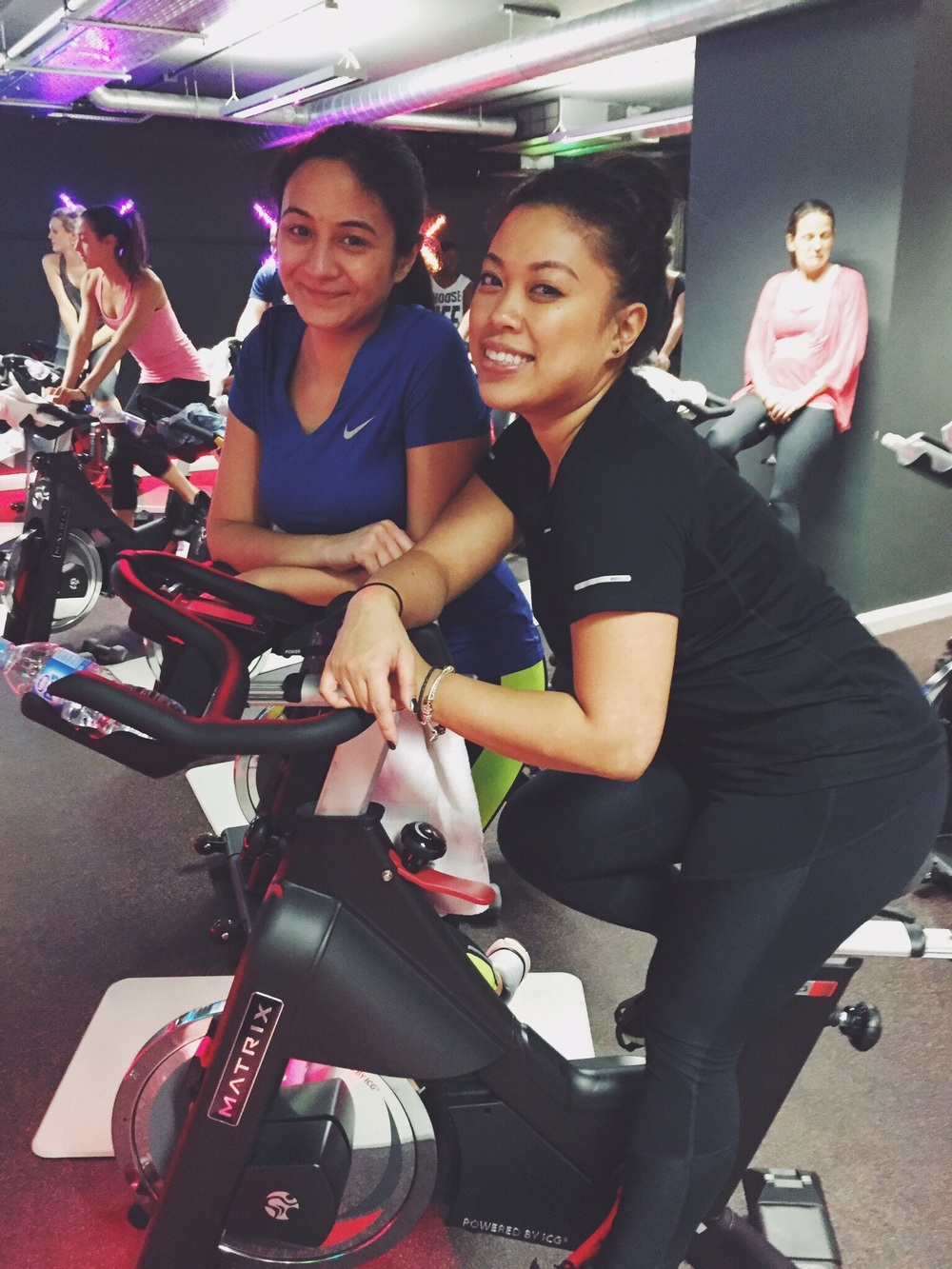 One of my first spinning classes at Edge