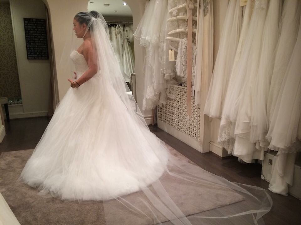 My first dress fitting... the back still unable to close all the way