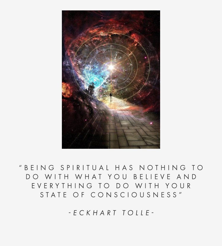 Being spiritual has nothing to do with what you believe and everything to do with your state of consciousness