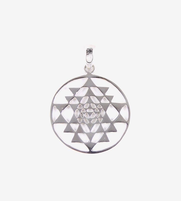 Sterling silver sri yantra pendant alchemical magic sterling silver sri yantra pendantg aloadofball Choice Image