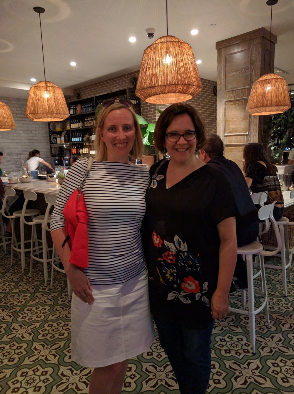 Squeezing in dinner with Jennifer Robson