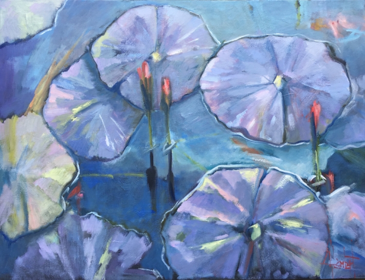 Lotus in Blue 30x40 $4200.jpg